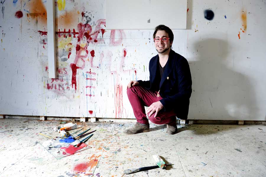 Rory Laycock, Young Artist 2014. Photo by Colin Hattersley