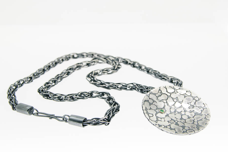Lisa Rothwell-Young, etched pendant loop