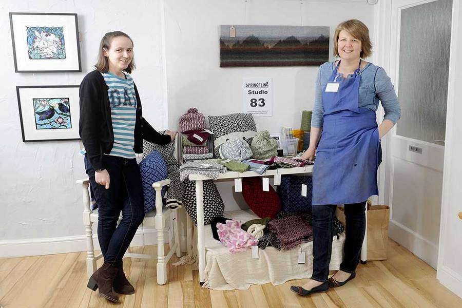 Clare Williams and Lisa Rothwell Young during Spring Fling. Photo by Colin Hattersley