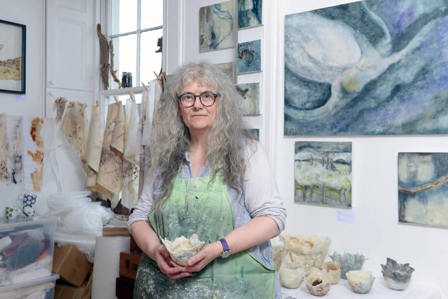 Maggie Ayres in her studio