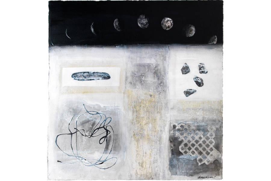 Silvana McLean, 'Snow Archaeology - Lunar Month'