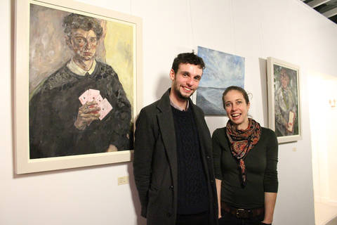 Emerge recipient Luke Fitch with his mentor Katharine Wheeler (2017)