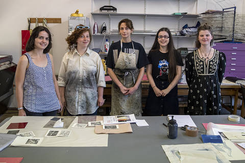 The Modern Makers (l-r) Katy Billington, Emily Tough, Blossom McCuaig, Erin Retson and Ione McCall (Jamie Stryker not pictured). Picture by Colin Tennant.