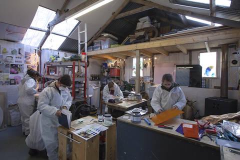Amanda Simmon's studio. Photo by Colin Tennant