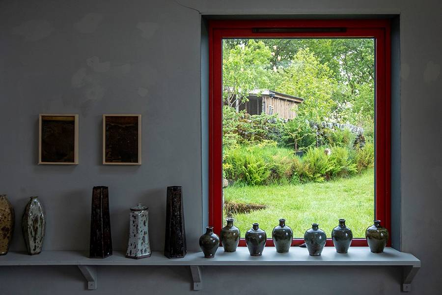 Image: Andy Priestman's studio at Spring Fling 2019. Photo by Colin Tennant
