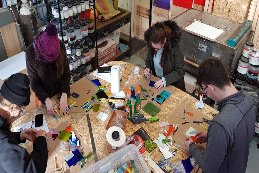 The Modern Makers in Amanda's studio