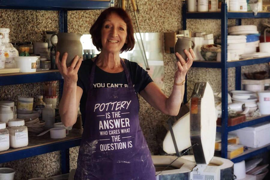 Elaine Henderson in her Pottery Studio - VACMA recipient 2020-21