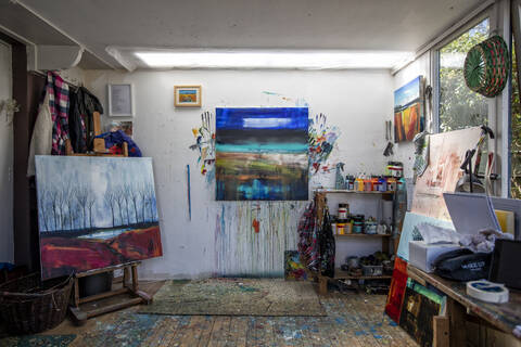 Anne Butler's studio. Photo by Colin Tennant